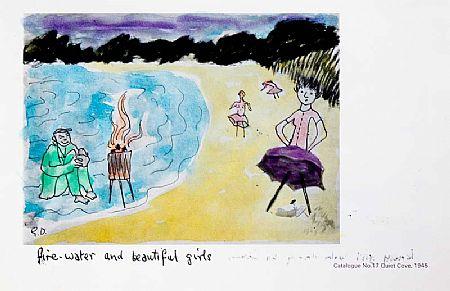 Gerard Dillon RHA RUA (1916-1971), Fire Water and Beautiful Girls & Beach-Dwellers at Morgan O'Driscoll Art Auctions