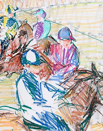 Claire Eva Burton (20th/21st Century), Jockeys at Morgan O'Driscoll Art Auctions