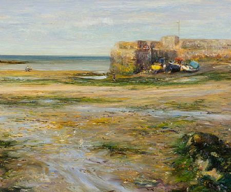 Paul Kelly (20th Century) British, Low Tide, Rush Harbour at Morgan O'Driscoll Art Auctions