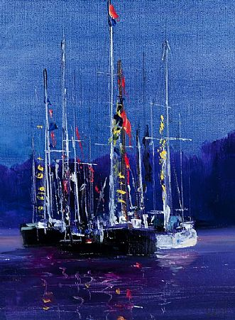 Kenneth Webb RWA FRSA RUA (b.1927), Yachts at Dusk at Morgan O'Driscoll Art Auctions