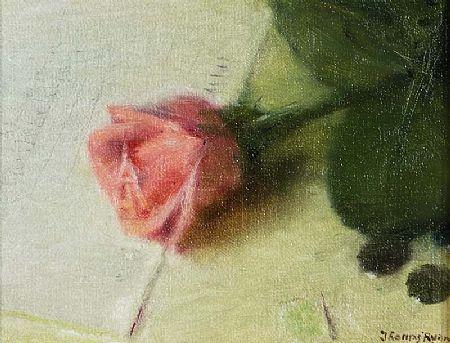 Thomas Ryan PPRHA (b.1929), Pink Rose, October at Morgan O'Driscoll Art Auctions