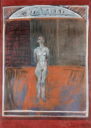 Brian Bourke HRHA (b.1936), Standing Figure, Dublin at Morgan O'Driscoll Art Auctions