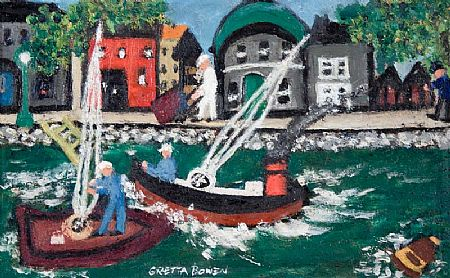 Gretta Bowen (1880-1981), On the Canal at Morgan O'Driscoll Art Auctions