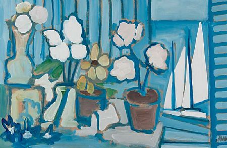 Markey Robinson (1918-1999), Still Life with Flowers by Window at Morgan O'Driscoll Art Auctions