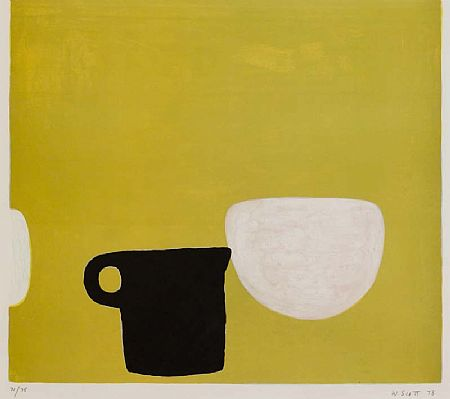 William Scott OBE RA (1913-1989), Still Life on Yellow at Morgan O'Driscoll Art Auctions