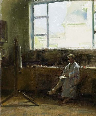 Thomas Ryan PPRHA (b.1929), The Artist's Wife in the Studio at Morgan O'Driscoll Art Auctions