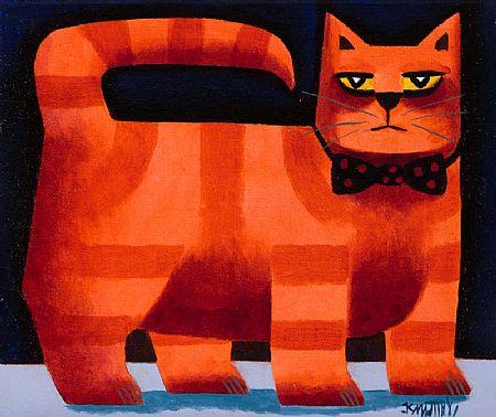 Graham Knuttel (b.1954), Cat at Morgan O'Driscoll Art Auctions