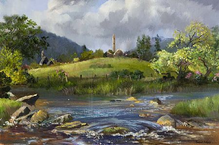 Susan Mary Webb (b.1962), Round Tower at Morgan O'Driscoll Art Auctions
