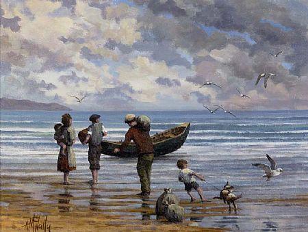 Tony McNally (b.1953), Loading the Boat at Morgan O'Driscoll Art Auctions