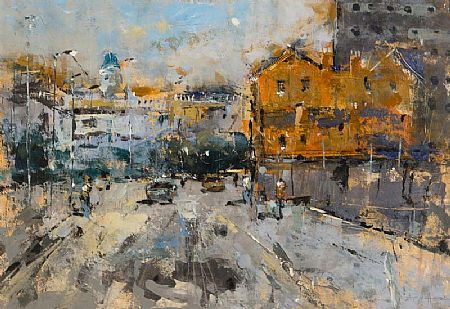 Andrew Hood (20th/21st Century), Merchants Quay, Dublin at Morgan O'Driscoll Art Auctions