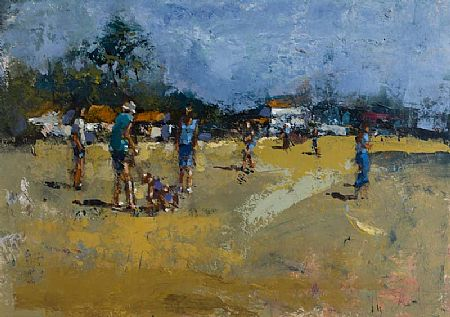 Andrew Hood (20th/21st Century), Sunny Afternoon at the Beach at Morgan O'Driscoll Art Auctions