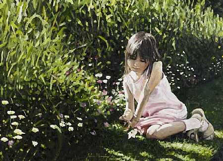 John Murphy (20th/21st Century), Admiring Wild Flowers, Botanic Gardens at Morgan O'Driscoll Art Auctions
