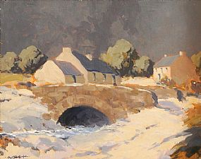 George Gillespie RUA (1924-1996), Snow in Connemara at Morgan O'Driscoll Art Auctions