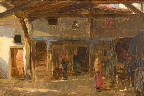 Walter Frederick Osborne RHA (1859-1903), An Interior of a Coach House at Morgan O'Driscoll Art Auctions