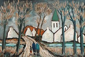 Markey Robinson (1918-1999), Returning to the Village at Morgan O'Driscoll Art Auctions