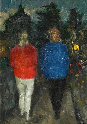 Patrick Leonard, Evening Stroll at Morgan O'Driscoll Art Auctions