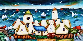 Annie Robinson, Coastal Village at Morgan O'Driscoll Art Auctions