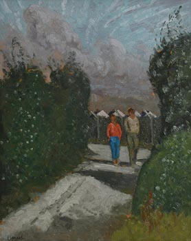 Patrick Leonard, Morning Sun, Old Mill Lane, Skerries (1984) at Morgan O'Driscoll Art Auctions