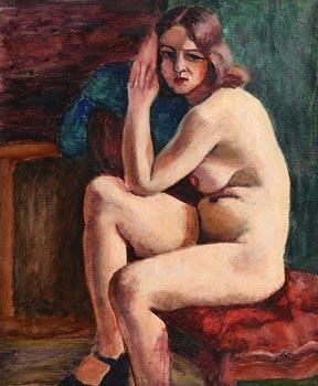 20th Century Irish School, Seated Female Nude at Morgan O'Driscoll Art Auctions