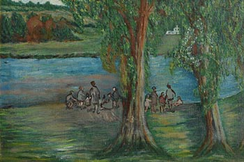 Gladys MacCabe, Children Playing by the River at Morgan O'Driscoll Art Auctions