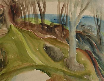 John Luke, Trees by the Shore at Morgan O'Driscoll Art Auctions