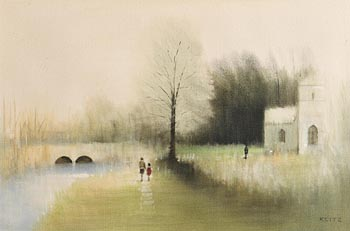 Anthony Robert Klitz, By the River Lee, Cork at Morgan O'Driscoll Art Auctions