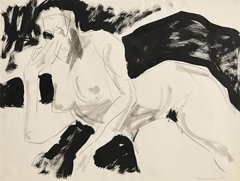 Basil Blackshaw, Reclining Female Nude at Morgan O'Driscoll Art Auctions