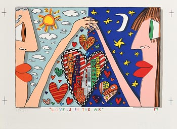 James Rizzi, Love is in the Air (1980-89) at Morgan O'Driscoll Art Auctions