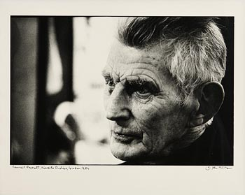John Minihan, Samuel Beckett, Riverside Studios, London 1984 at Morgan O'Driscoll Art Auctions