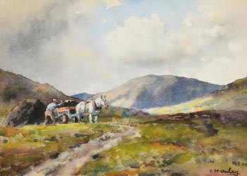 Charles J. McAuley, Loading the Turf at Morgan O'Driscoll Art Auctions
