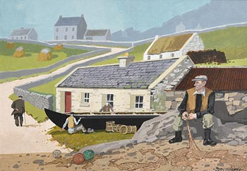 John Skelton, End of Day, Inishmor, Aran at Morgan O'Driscoll Art Auctions