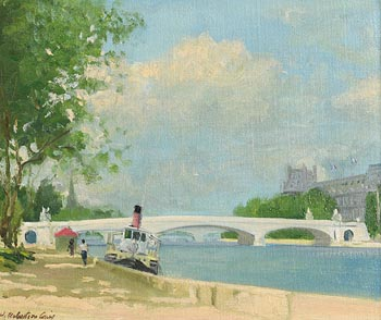 Henry Robertson Craig, By the Seine, Paris at Morgan O'Driscoll Art Auctions
