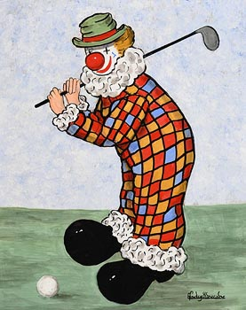 Gladys MacCabe, Golfing Clown at Morgan O'Driscoll Art Auctions