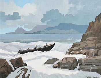 John Skelton, Achill Breakers, Achill, Mayo at Morgan O'Driscoll Art Auctions