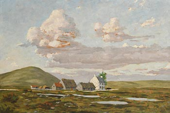 Ciaran Clear, Houses in Co Kerry (1954) at Morgan O'Driscoll Art Auctions