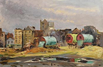 Geraldine  M. O'Brien, View of Cook Street, Dublin 8 at Morgan O'Driscoll Art Auctions