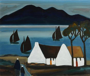 Markey Robinson, Sailing on Achill Sound at Morgan O'Driscoll Art Auctions