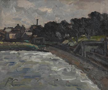 Peter Collis, Railway by the Sea, Monkstown at Morgan O'Driscoll Art Auctions