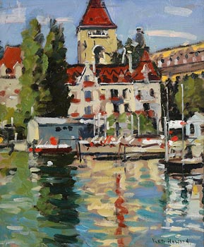Ken Howard, Castle of Ouehy, Switzerland  (2010) at Morgan O'Driscoll Art Auctions