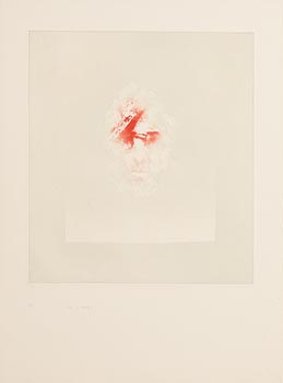 Louis Le Brocquy, Study Towards an Image of William Butler Yeats at Morgan O'Driscoll Art Auctions