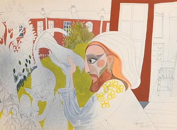 Pauline Bewick, Figure with Bird and Cat at Morgan O'Driscoll Art Auctions
