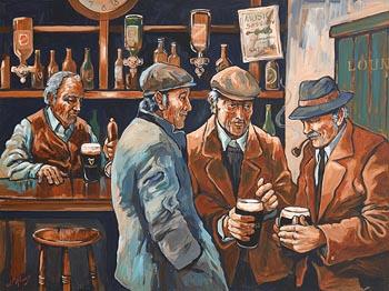 J.P. Rooney, Men in a Pub at Morgan O'Driscoll Art Auctions