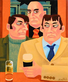 Graham Knuttel, The Bankers at Morgan O'Driscoll Art Auctions