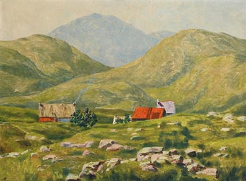 Ciaran Clear, Hillside Homes, Donegal at Morgan O'Driscoll Art Auctions
