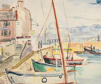 Fr. Jack P. Hanlon, Moored in the Harbour at Morgan O'Driscoll Art Auctions