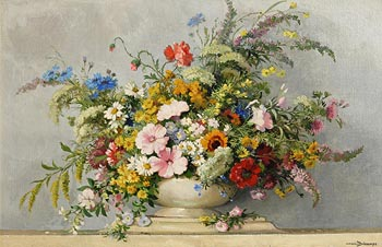 Maurice-Alfred Decamps, Profusion of Summer Flowers at Morgan O'Driscoll Art Auctions