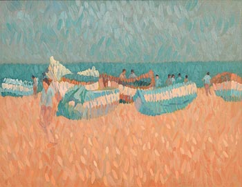 Desmond Carrick, Beached, Nerja at Morgan O'Driscoll Art Auctions