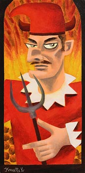 Graham Knuttel, The Devil, Mr Punch at Morgan O'Driscoll Art Auctions