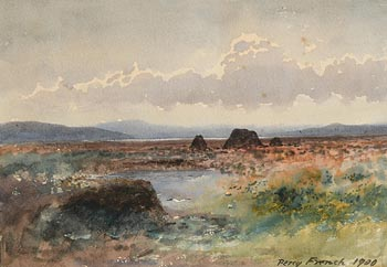 Percy French, A Mayo Bog (1900) at Morgan O'Driscoll Art Auctions