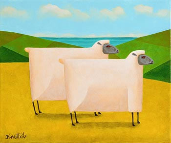 Graham Knuttel, Green Pastures at Morgan O'Driscoll Art Auctions